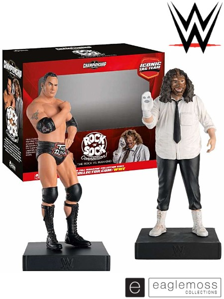 Eaglemoss WWE Iconic Tag Team Rock N Sock Connection